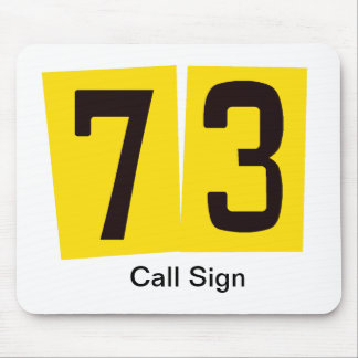 73 Ham Radio Mouse Pad  Customize Call Sign!