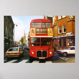 73 London Bus Full Colour Poster