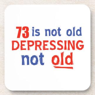 73 year birthday designs beverage coasters