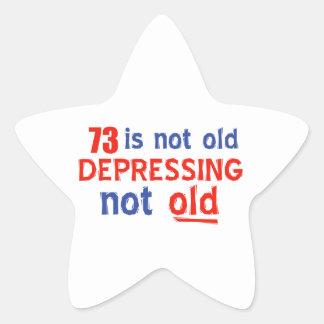 73 year birthday designs star sticker