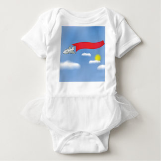 73Plane Banner_rasterized Baby Bodysuit