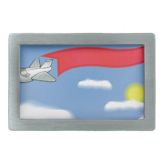 73Plane Banner_rasterized Belt Buckle