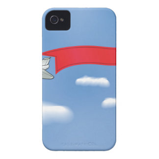 73Plane Banner_rasterized iPhone 4 Cases