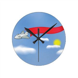 73Plane Banner_rasterized Round Clock