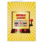 73rd birthday slot machine card