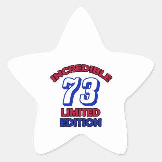 73th Birthday Design Star Sticker