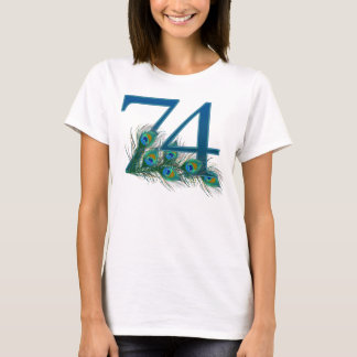 74 / 74th number birthday t-shirt