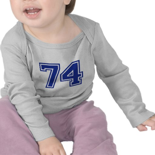 74 - number t-shirt
