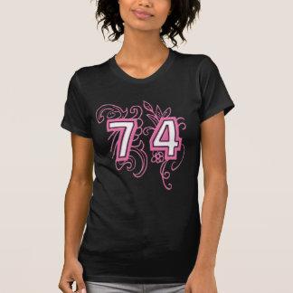 74 PINK DESIGN TEE SHIRTS