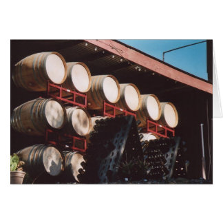 74. Wine Barrels, Sonoma County, CA Card