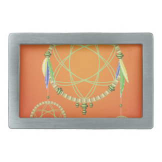 74Dream Catcher_rasterized Rectangular Belt Buckle