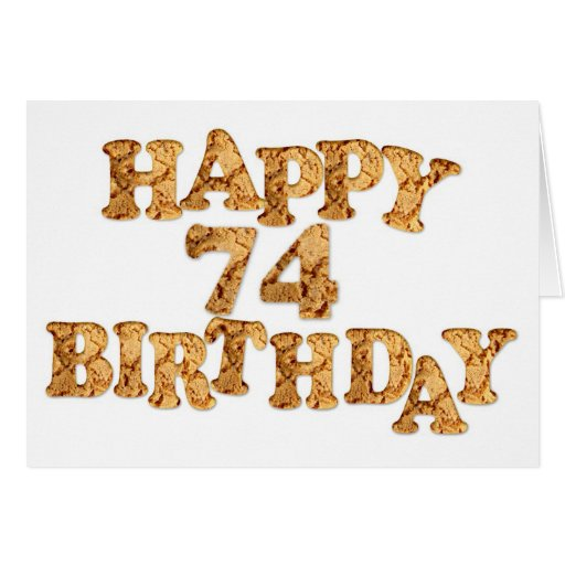 74th Birthday card for a cookie lover