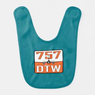 757 DTW Baby Bib
