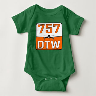 757 DTW Baby T-Shirt with Snap Closure