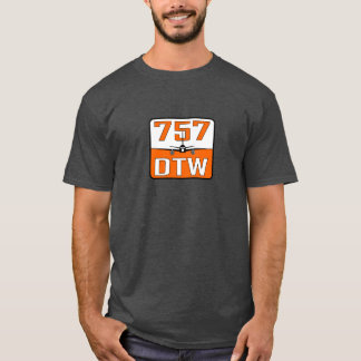 757 DTW Men's Charcoal Heather Cotton T-Shirt - XL