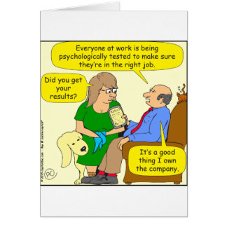 758 psychological test for right job greeting card