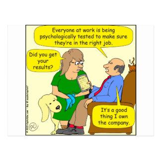 758 psychological test for right job postcard