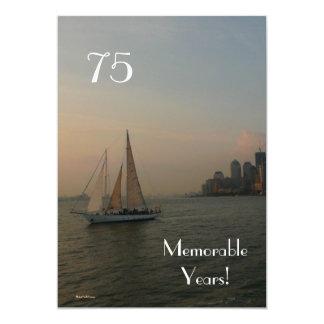 75 Memorable Years/Sailboat-Birthday Card