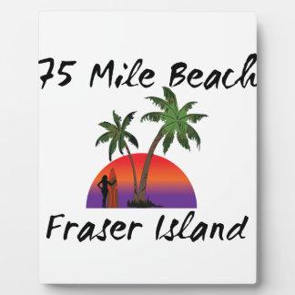 75 mile beach fraser island plaques