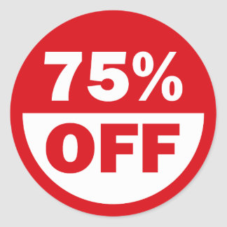 75% OFF CLASSIC ROUND STICKER