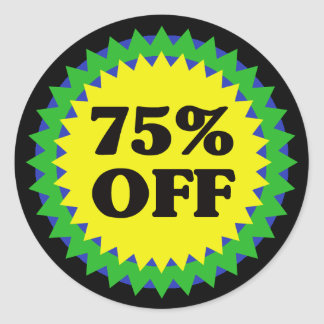 75% OFF RETAIL SALE Sticker