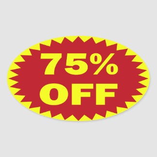 75 Off Retail Sale Stickers