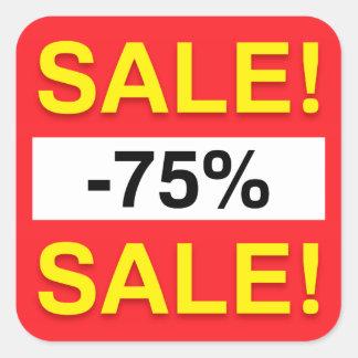 75 percent sale discount stickers