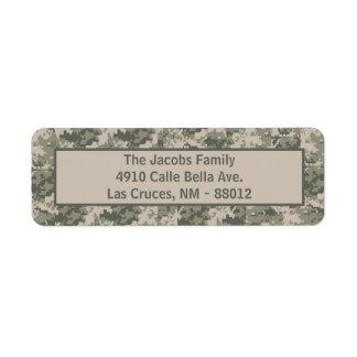 """.75""""x2.25"""" ARMY ACU Camo Return Address Label"""