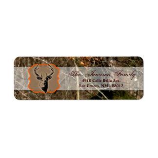 ".75""x2.25"" Return Address Label Hunting Deer Buck"