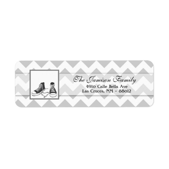 ".75""x2.25"" Return Address Label Teenage Sneakers"