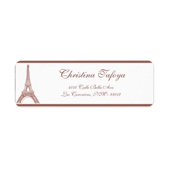 ".75"" x 2.25"" Return Address Floral Spiral in Paris Return Address Label"