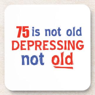 75 year birthday designs drink coasters
