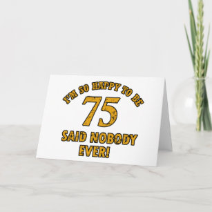 75 Years Old Birthday Designs Card