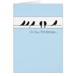 75th Birthday Birds Chorus Card