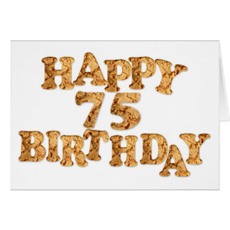 75th Birthday card for a cookie lover