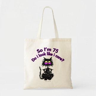 75th Birthday Cat Tote Bag
