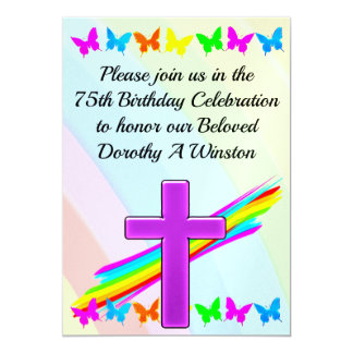 75TH BIRTHDAY CHRISTIAN INVITATION