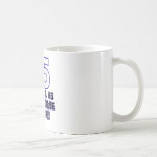75th birthday design coffee mug