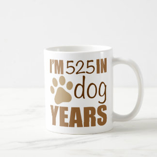 75th Birthday Dog Years Coffee Mug