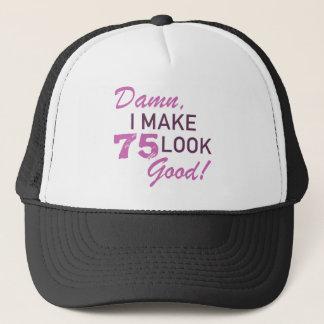 75th Birthday Humor Trucker Hat