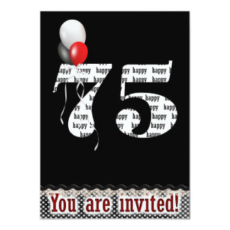 75th Birthday Invitation