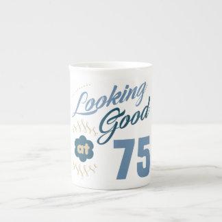 75th Birthday Looking Good Tea Cup