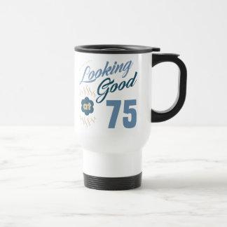 75th Birthday Looking Good Travel Mug