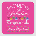 75th Birthday Most Fabulous Colourful Gems Pink