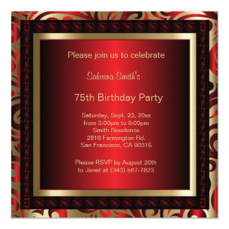 75th Birthday Party | DIY Text Card