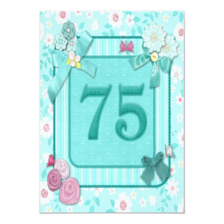 75th birthday party invitation