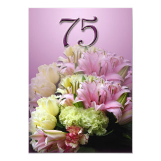 75th Birthday Party Invitation - Bouquet