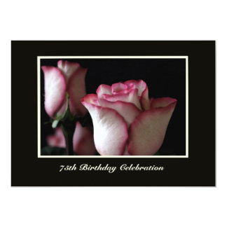 75th Birthday Party Invitation Roses