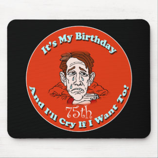 75th Birthday T-shirts and Gifts Mouse Pad