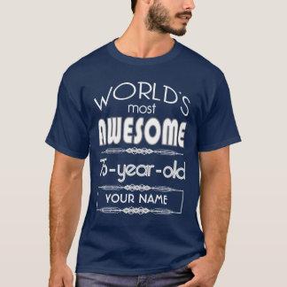 75th Birthday Worlds Best Fabulous Dark Blue T-Shirt